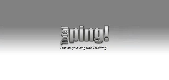 Tutorial Lengkap dengan Gambar PING Blog di TotalPing