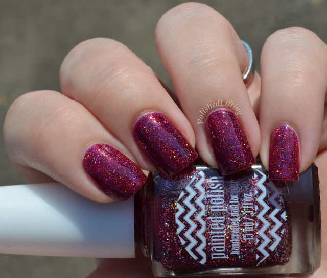 Painted Polish Vampy Valentine Holo