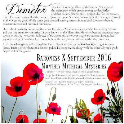 Baroness X Demeter • September 2016 Monthly Mythical Mystery