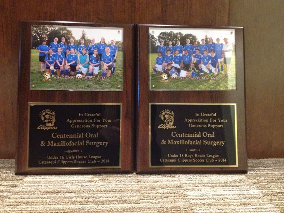 sponsorship plaques are in centennial oral and maxillofacial surgery