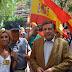 VOX, el único partido presente en Barcelona en la concentración en apoyo a la Guardia Civil