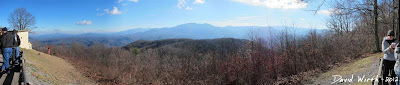 panoramic view of the smokey mountain national park, dome, peak