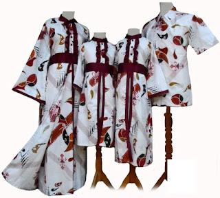 model baju batik muslim sarimbit untuk pesta