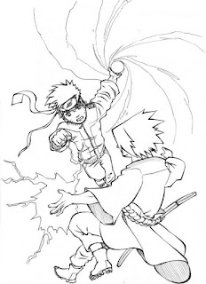 Sketsa Mewarnai Gambar Kartun Naruto 201612