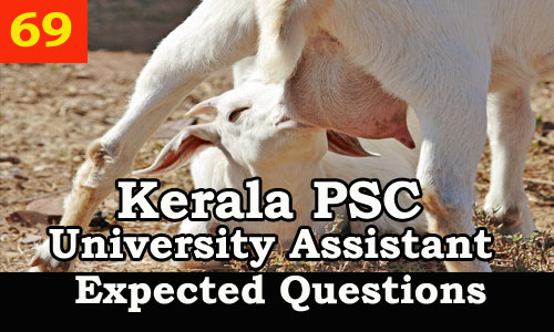 Kerala PSC : Expected Question for University Assistant Exam - 69