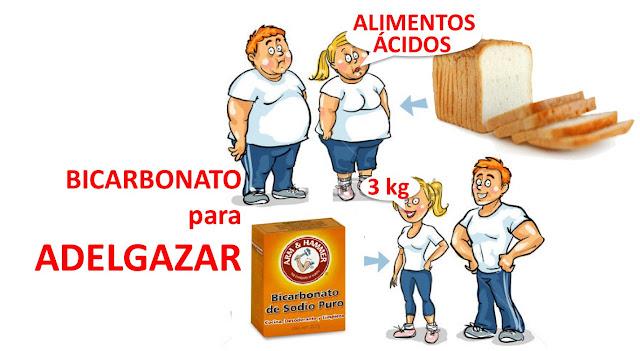 bajar de peso con bicarbonato