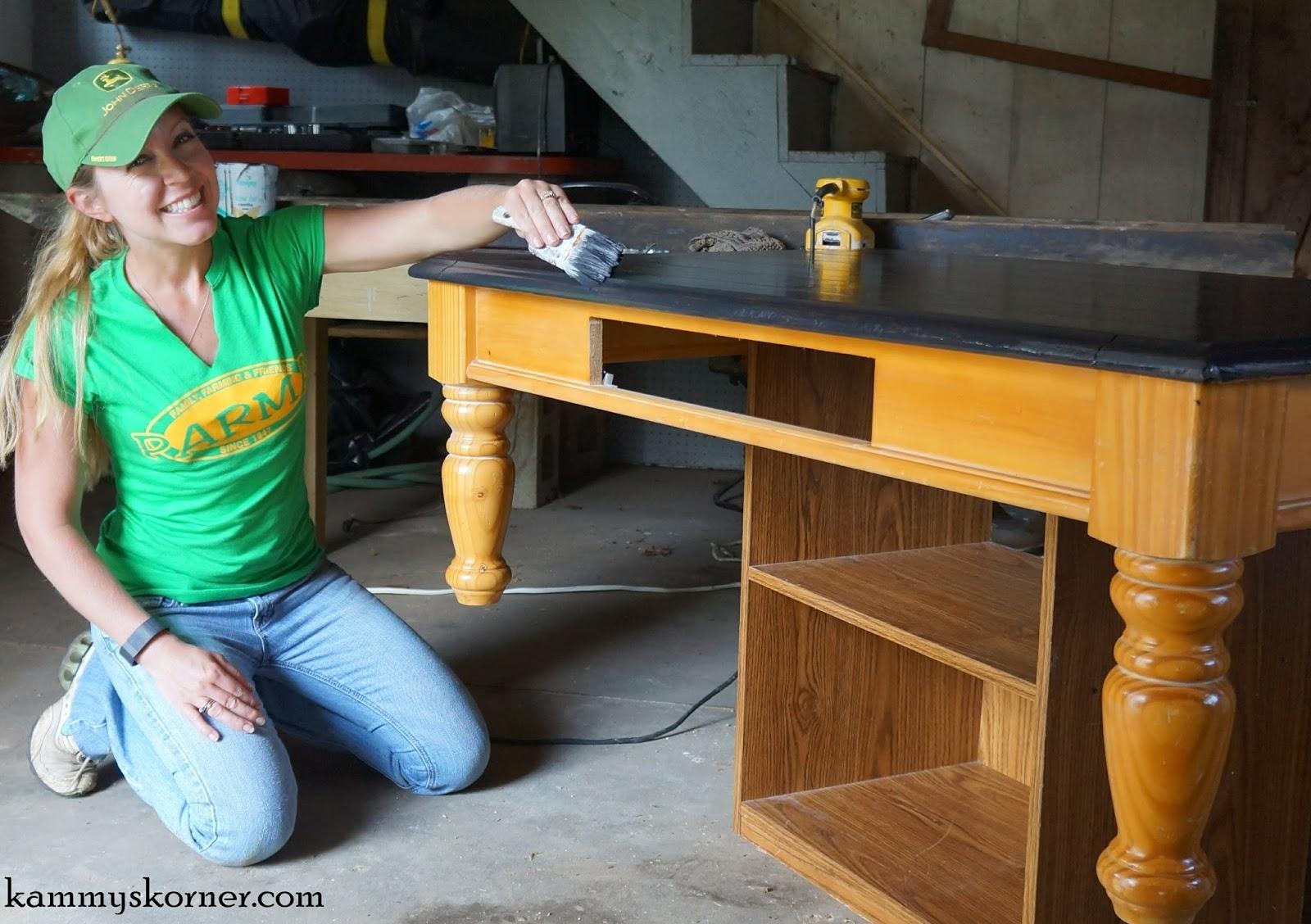 kammy's korner: coffee table redo & antique mirror tray vignette