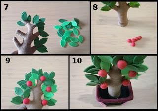Gambar Tutorial Pohon Apel dari Kain Flanel 2
