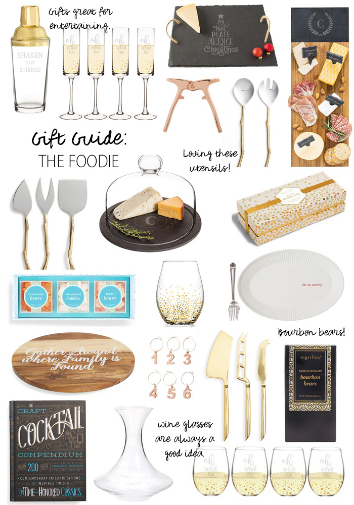 gift guide the foodie