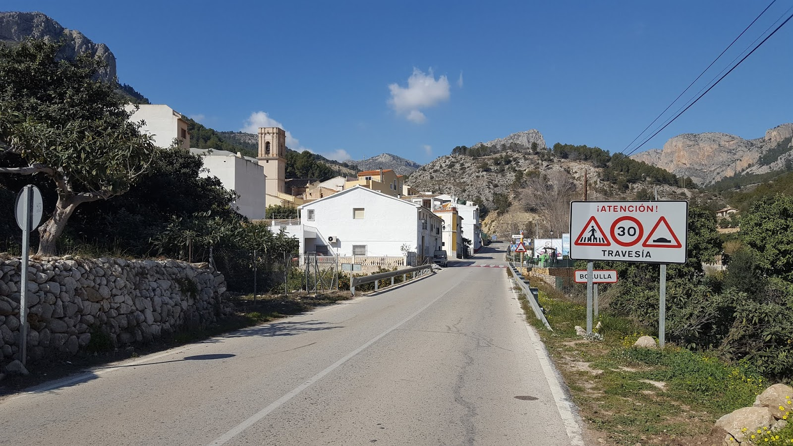 The village of Bolulla on the climb of Coll de Rates