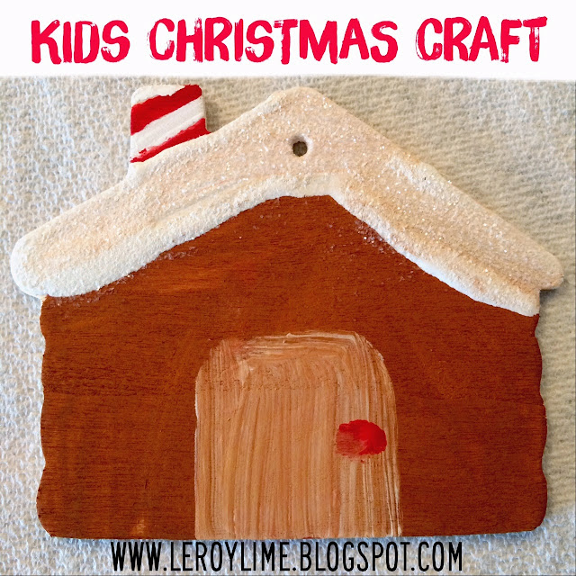 Kids Christmas Crafts - Painted House Ornament - LeroyLime
