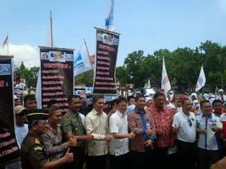 Ketua DPRD Sulut Andre Anggouw bersama Gubernur dan Wagub OD-SK serta Pimpinan Forkopimda
