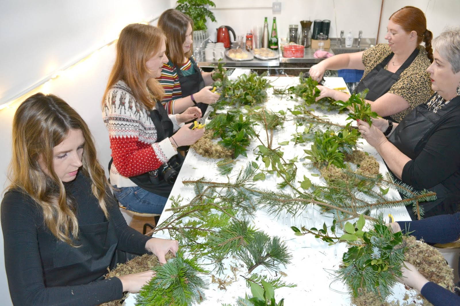 Christmas Wreath Making Workshop at House of Botanics Stack Newcastle