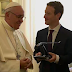 Mark Zuckerberg and his wife Priscilla Chan meet Pope Francis in the Vatican