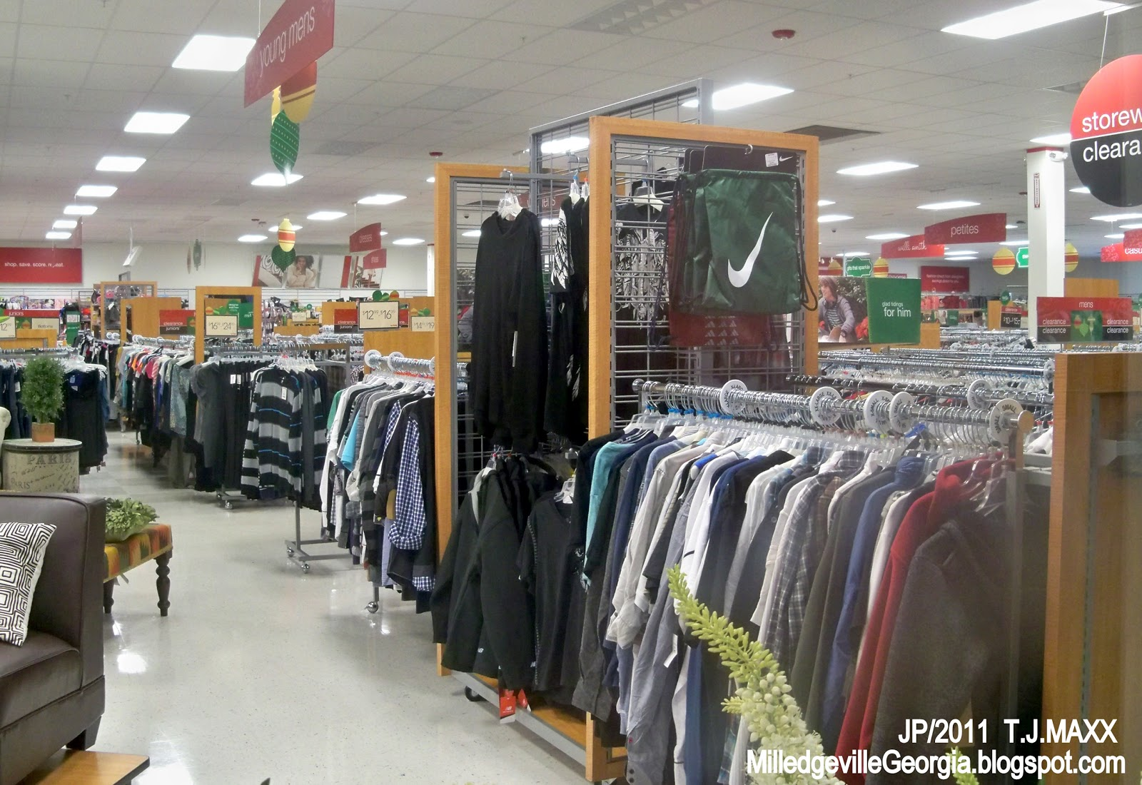 Clothing stores at the mall
