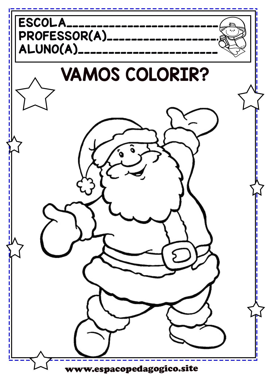 Desenhos De Natal Para Colorir Pintar Ou Capas De Prova De