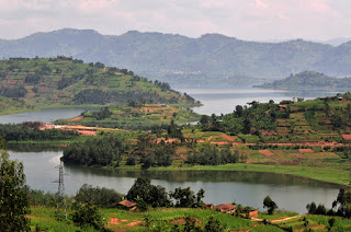 Rwanda scenic landscape, notably land of thousand hills due to it's scenic beauty