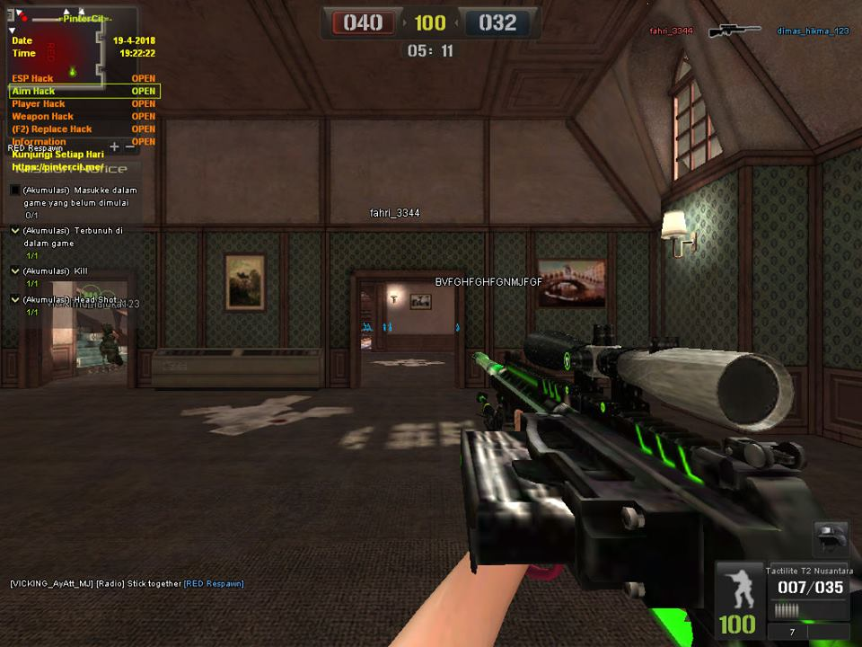 Cheat Point Blank Garena Indonesia 23 April 2018 Patch 1195