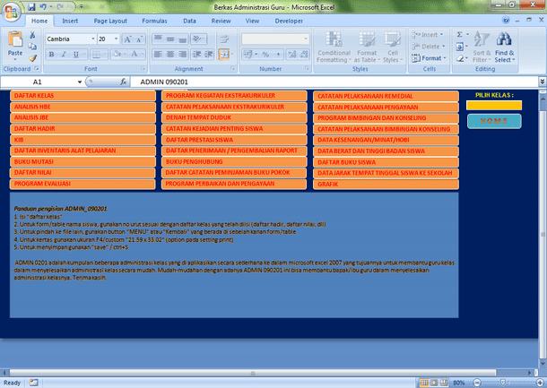 Kumpulan Administrasi Guru Format Microsoft Excel