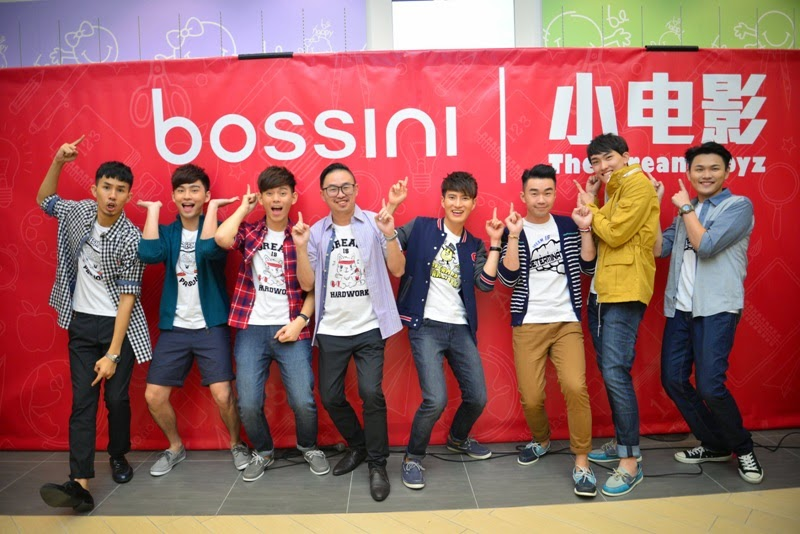 Creativity Platform for Local Pop Idols, Bossini, The Dream Boyz, Fuying & Sam, Teddy Chin, Alvin Chong, Eric Lin, Rayz Lim, Joe Chang