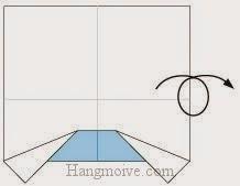 Bước 4: Lật ngược mặt đằng sau tờ giấy lên.