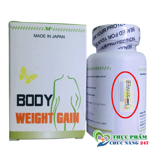 Thuốc tăng cân Body Weight Gain giá bao nhiêu, mua ở đâu, body weight gain made in japan
