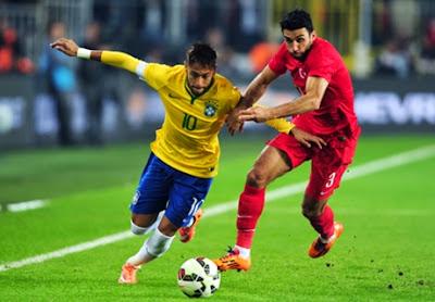 Laga Ujicoba : Brasil Hancurkan Turki 4 Gol Tanpa Balas