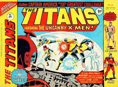 Marvel UK, The Titans #25, the X-Men