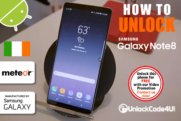 Factory Unlock Code Samsung Galaxy Note 8+ from Meteor