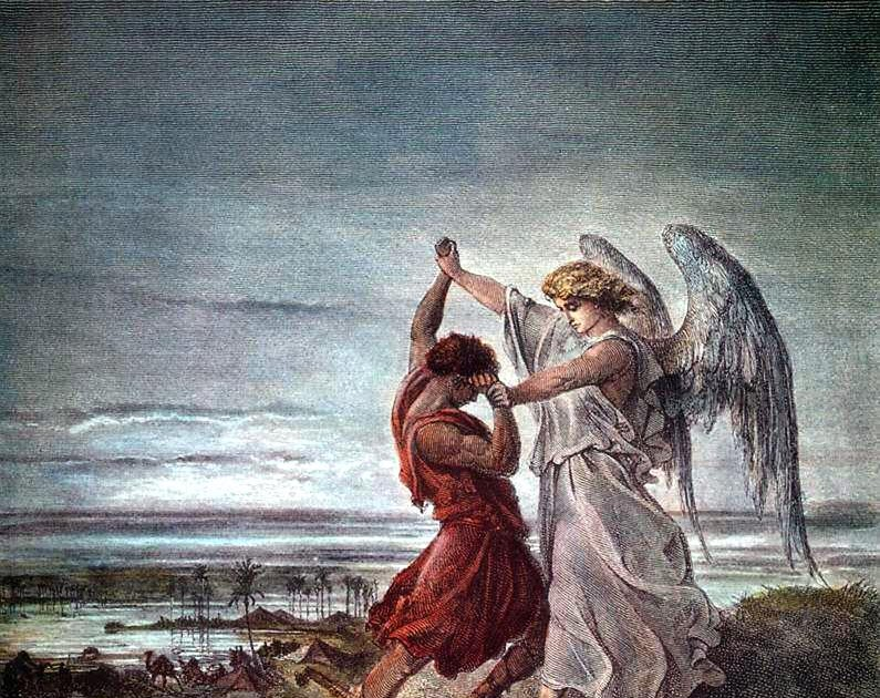 Jacob wrestling with the angel - Wikipedia |Jacob Wrestles With God Meaning