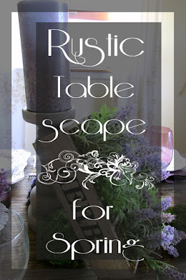 Purple and white spring tablescape