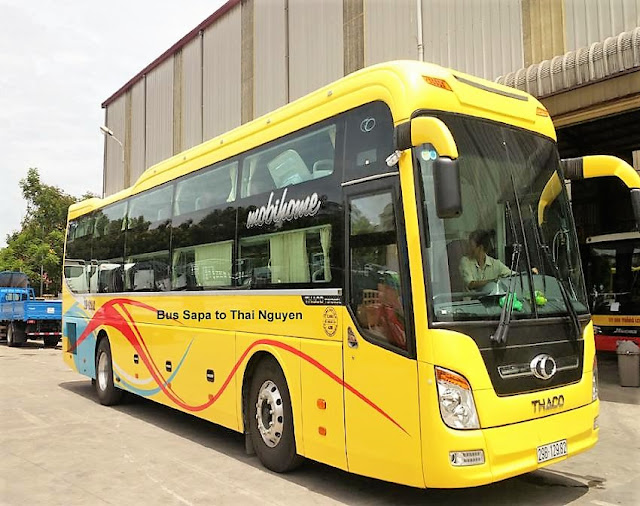 bus sapa thai nguyen ba be national park vietnam