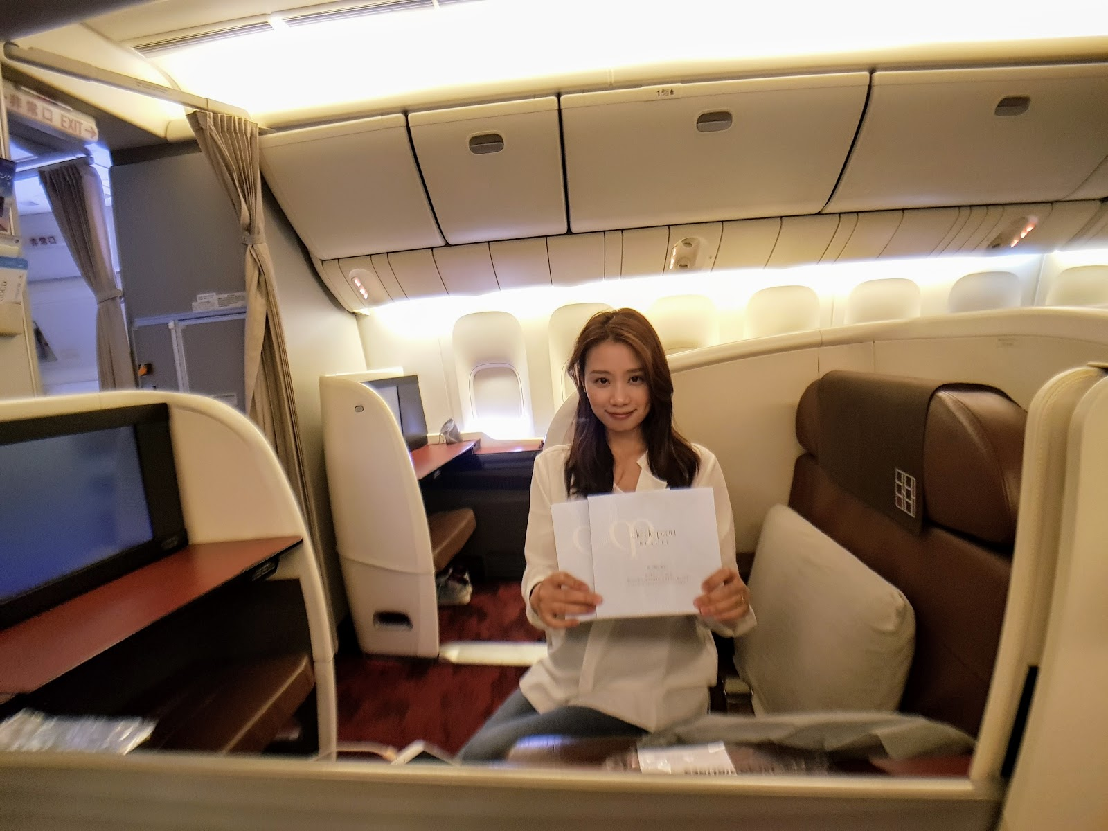 座位|日本航空 B77W 頭等艙 JAL SUITE