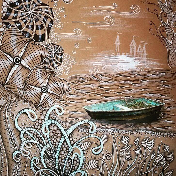 01-Boat-in-the-Waves-hello_zenart-www-designstack-co