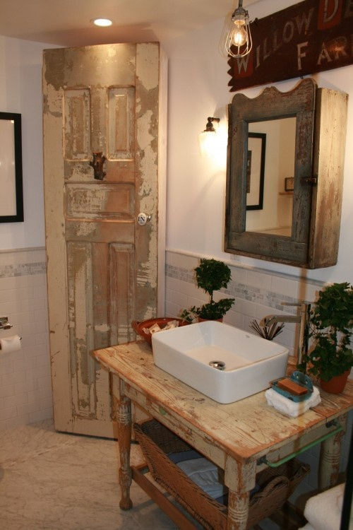 To Da Loos Wood Tables As Bathroom Vanities