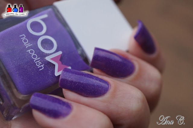 Bow Nail Polish, Bow Thermo, Top Coat Violet, Bow Violet, esmalte térmico