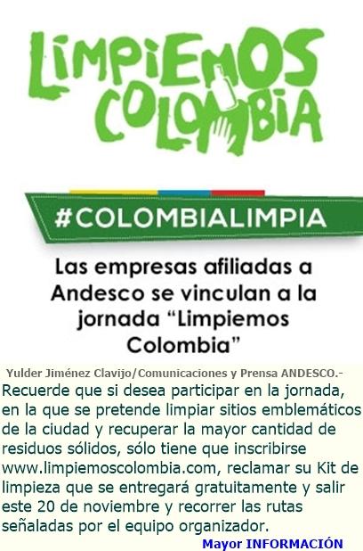 """Andesco se vincula a la gran jornada """"Limpiemos Colombia"""""""