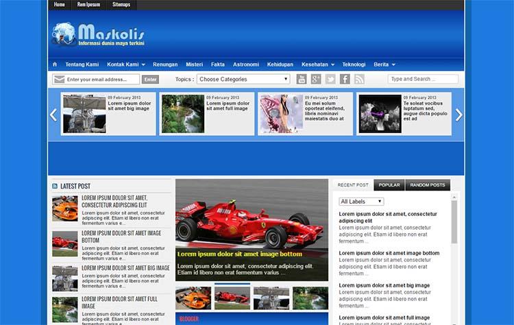Free Blogger Template - Maskolis