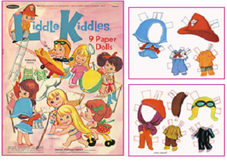 Image: free printable Liddle Kiddles paper dolls