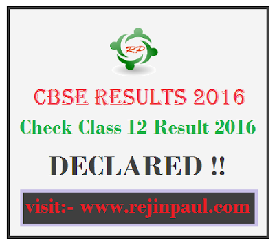 CBSE Exam Results 2016 cbseresults.nic.in