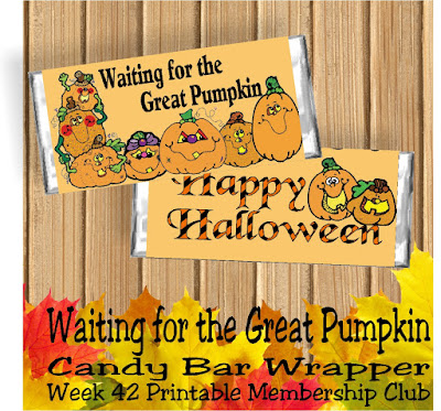 I love the idea of a great pumpkin flying through the sky to each pumpkin patch waiting to give each good little boy and girl gifts on Halloween.  So you may be waiting for the Great Pumpkin to swing by your house too.