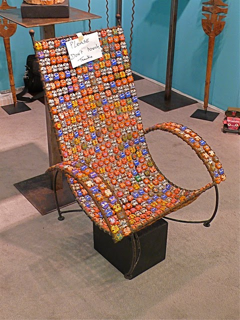 How To Recycle Recycled Bottle Caps Chair