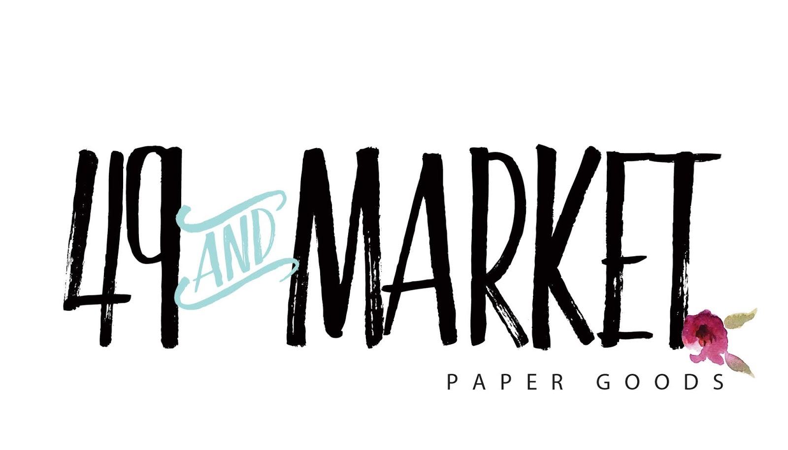 49 /& MARKET Botanical Blends Scrapbook Embellishment NAVY BB-86967 NEW
