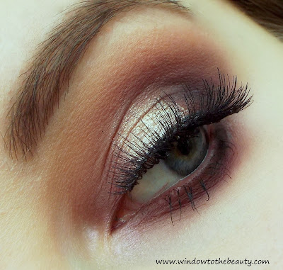 Burgundy with glitter  makeup
