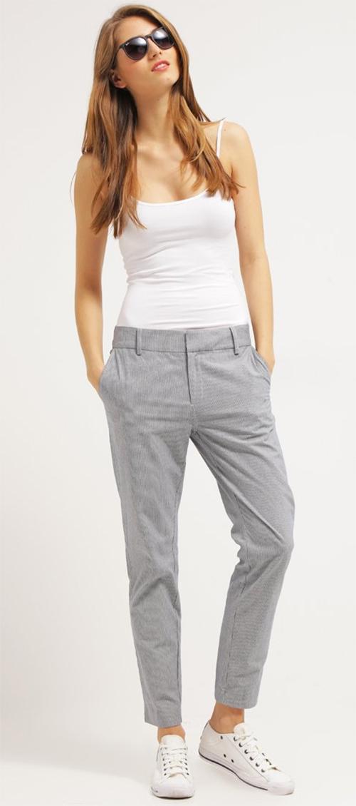 Pantalon femme classique gris Part Two