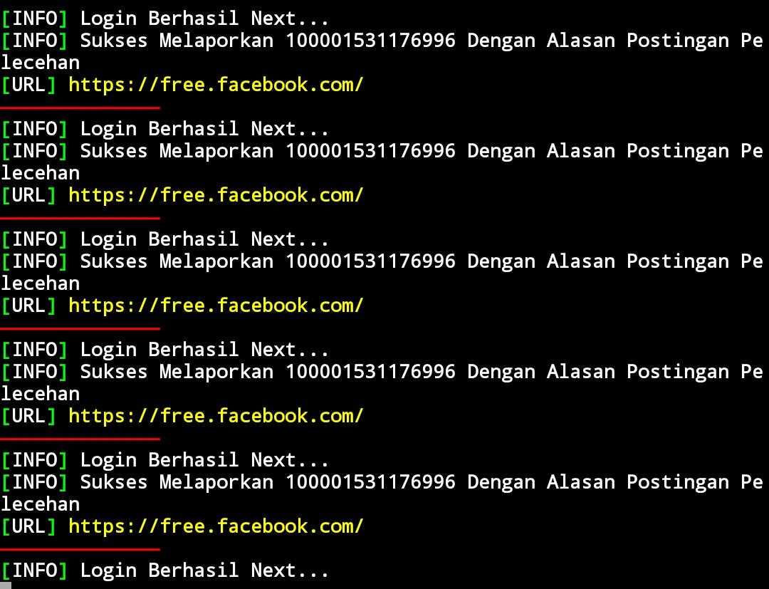 Tools auto report facebook paling ampuh menggunakan aplikasi termux