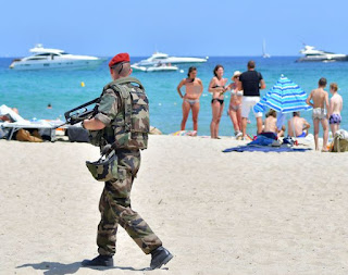 Summer of ISIS dread sees outfitted watches of shorelines and occasion hotspots as France fears assault on vacationers