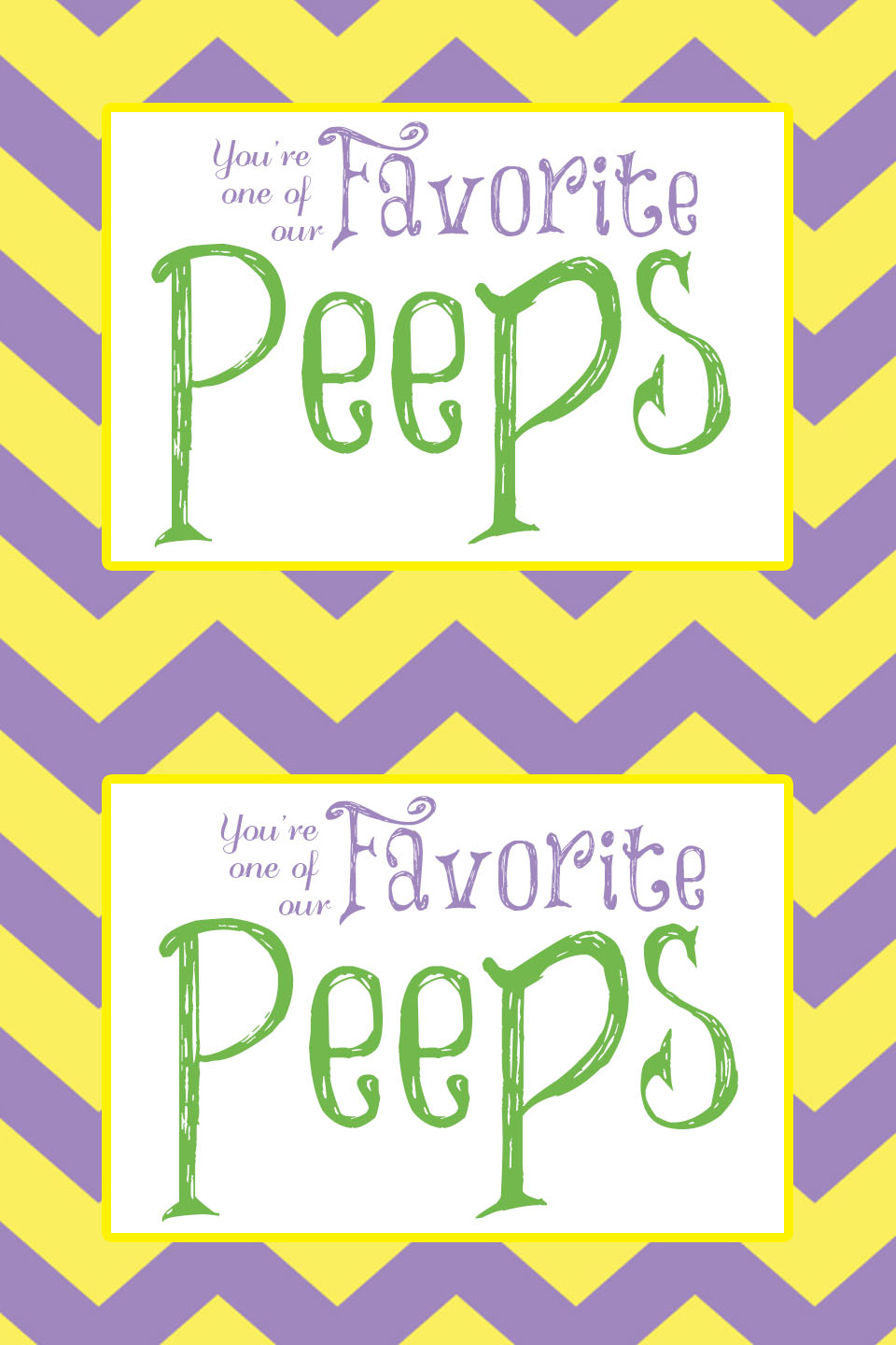 Free Printable You Re One Of Our Favorite Peeps Visiting Teaching Hand Out Tips From A Typical Mom