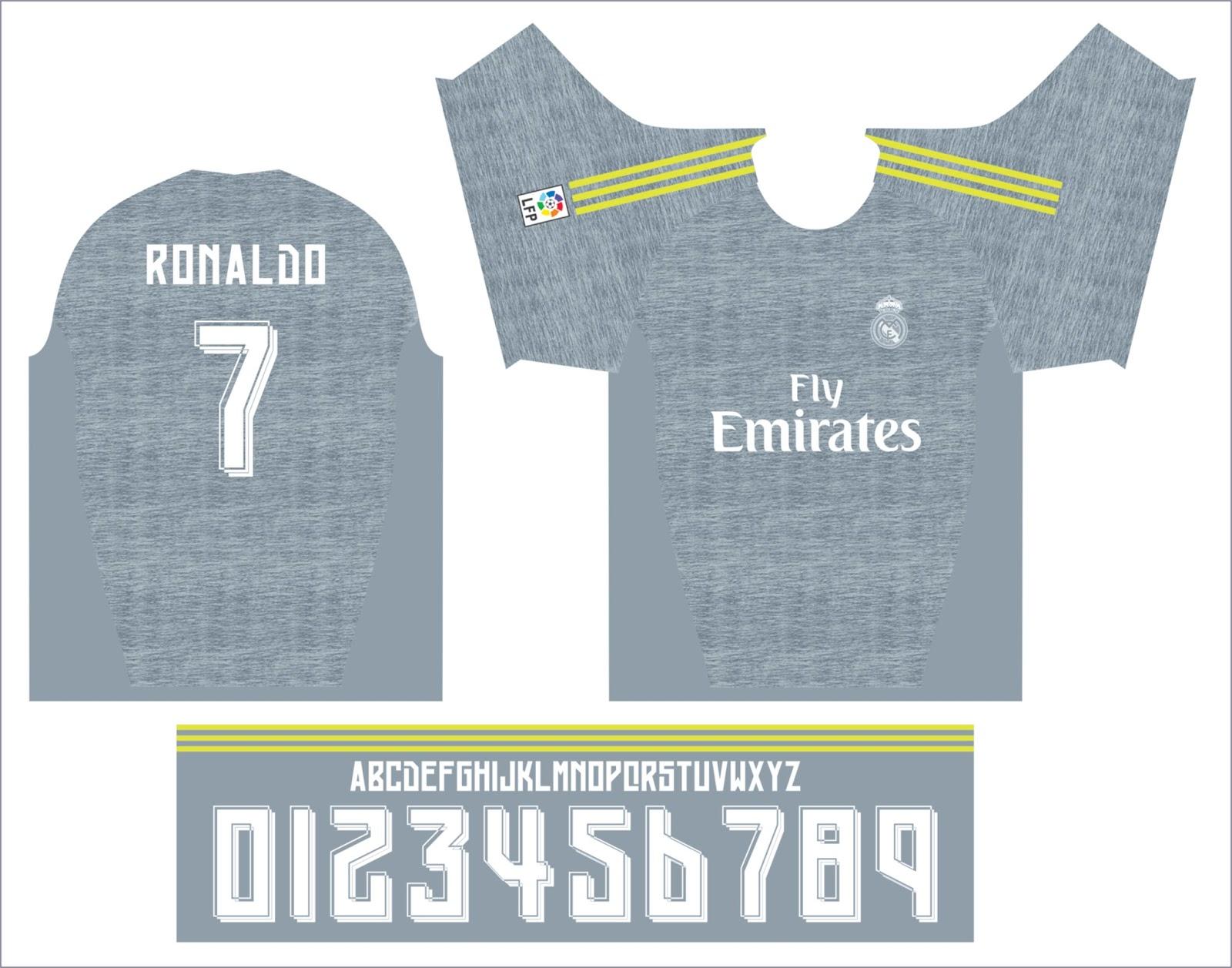 camisetas y tipografias vectorizados  CAMISETA REAL MADRID VECTOR ... c85e5102f285d