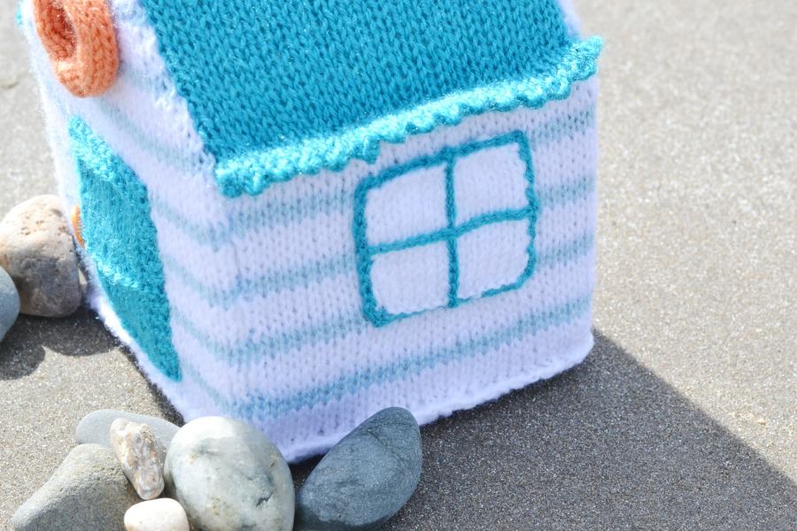 beach hut stripes knitting amanda berry fluff and fuzz yarn along beach photos scotland window